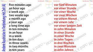 Ausdrücke in Verbindung mit Zeit – German for all Deutsch für alle – Robert Koebler