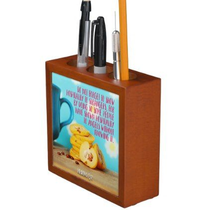 #Show Hospitality To Strangers Pencil Holder - #office #gifts #giftideas #business