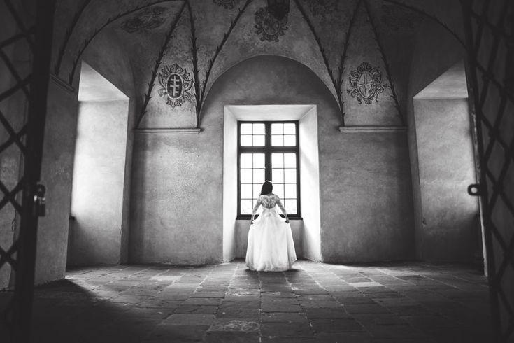Bride in castle by Kamila Wilk