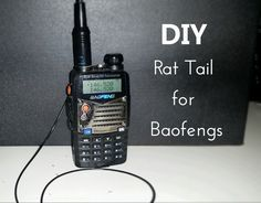 """What is a Rat Tail? A """"Rat Tail"""", or counterpoise, is basically the missing part of a whip antenna. You can consider it to be something like an actual Dipole antenna on your HT. The whi…"""