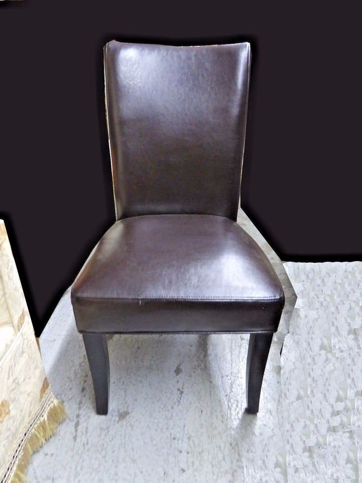 Contemporary faux leather accent chair afflink leather