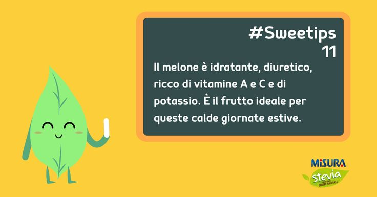 Vi piace il #melone? Ottime notizie per voi #sweetips