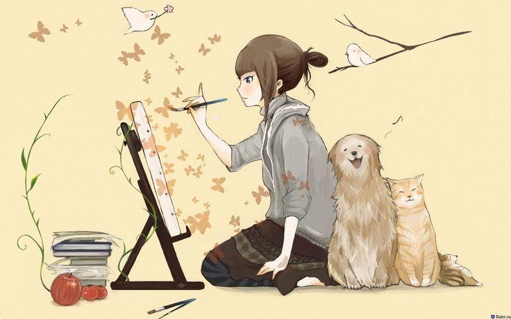 Уроки живописи — Рисуем пионы гуашью