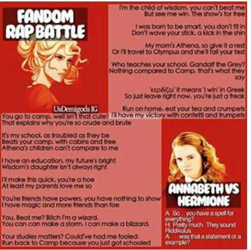 Fandom Rap Battle: Annabeth vs Hermione. Who won?
