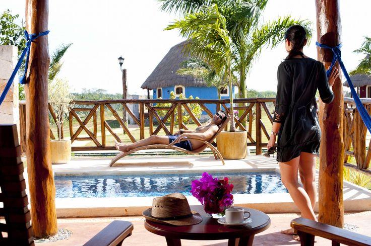 Deluxe Outdoor Pool / Piscina privada de Habitación Deluxe. Hacienda Sotuta de Peón, Yucatan, Mexico