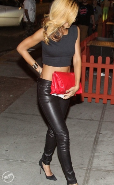 Leather pants, Crop tops and Pants on Pinterest