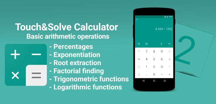 Jueves 03 de Marzo 2016.  Por:Yomar Gonzalez| AndroidfastApk  Touch&Solve Calculator No Ads v1.5 Build 30 Paid Requisitos: 2.3.3 o superior Información general: POSIBILIDADES DE CÁLCULOPOSIBILIDADES DE CÁLCULO - las operaciones aritméticas básicas - porcentajes - Potenciación - Extracción de la raíz - Hallazgo factorial - Funciones trigonométricas - Funciones logarítmicas Historia de la informática - agrupar registros por fecha - Inserción de expresión o el resultado de su cálculo en el…