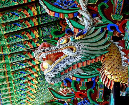 Dragon at Nuns Temple, Daejeon, South Korea