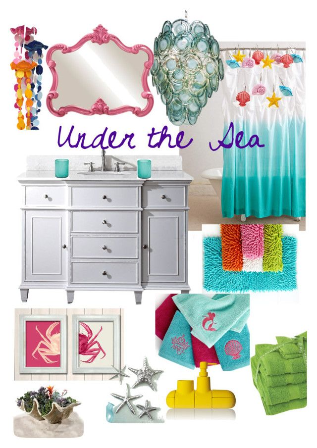 Disneyhome  Under The Sea, The Little Mermaid Inspired Bathroom By  Bijouxetsoirees On Polyvore Featuring