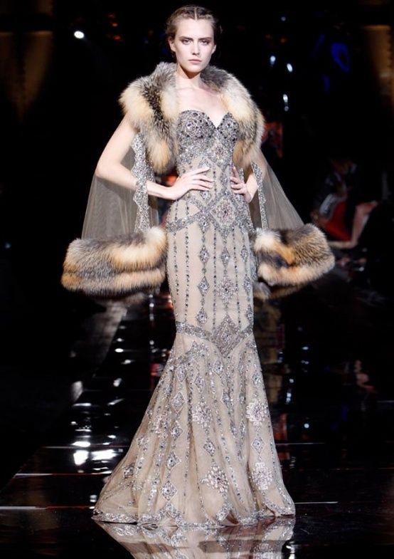 Runway Fashion | Art deco Beaded 1930's Gown | Gatsby Dress | Vintage Wedding Inspiration