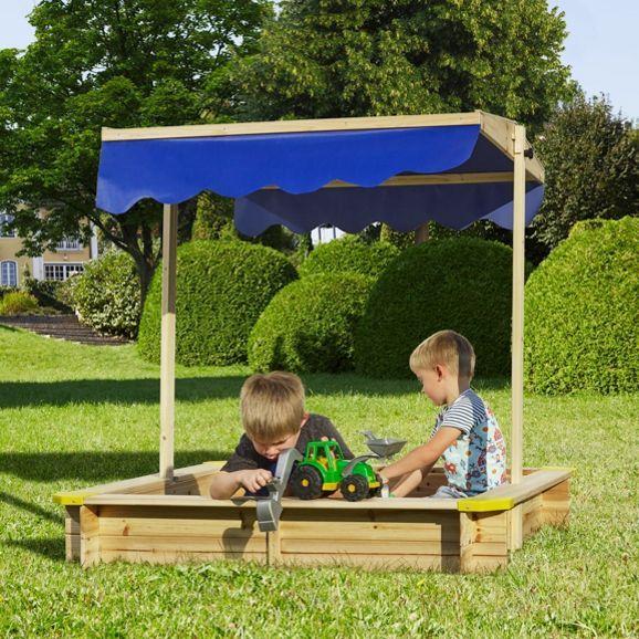 Lovely Sandkasten aus Tannenholz mit Dach toller Spielspa f r den Garten