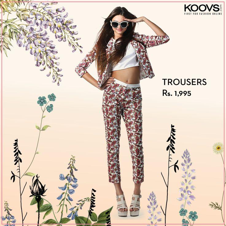 KOOVS Paisley Printed Trousers