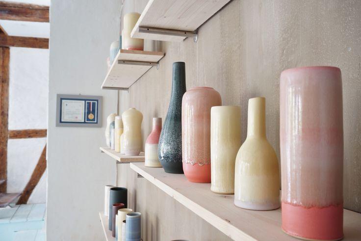 The ceramics studio from Tortus Copenhagen. Unika Vases.