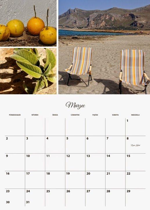 Szablon fotokalendarza planer z izziBook.pl
