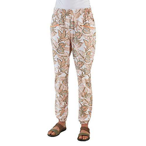 Merrell Women's Biolush Jogger Pants, Peach Nectar Print, Size 12 -- Read more info by clicking the link on the image. #WomensCampingClothing