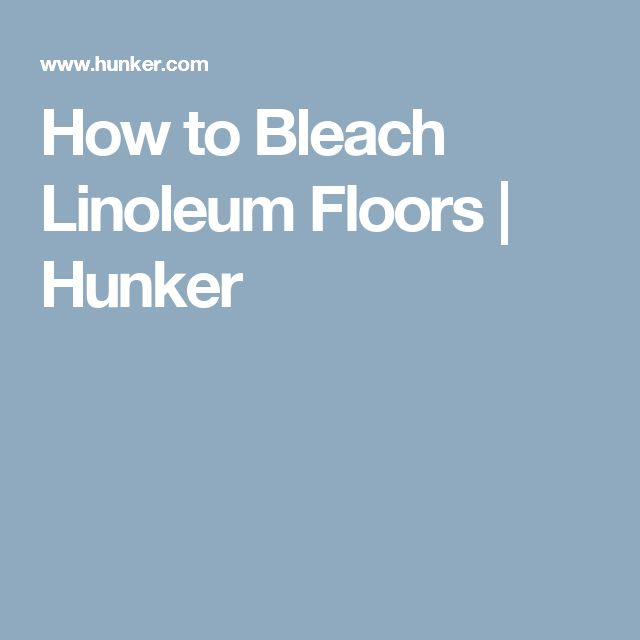 how to clean vinyl floors with bleach