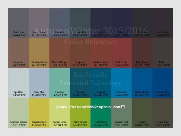 trend colors 2015-2016   AutumnWinter 2015/2016 trend forecasting + daily quote