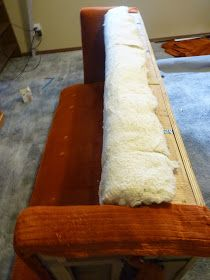 d i y d e s i g n: How to Re-Upholster a Sofa Great tutorial!  Walks you through step by step