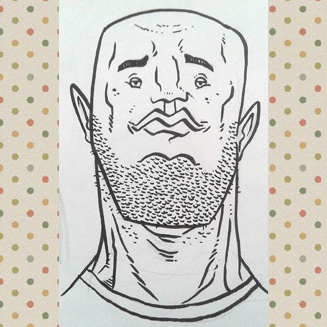 #kenny_poppins #dailydoodle #sketchbook #illustration #ink #markerart #caricature #beard