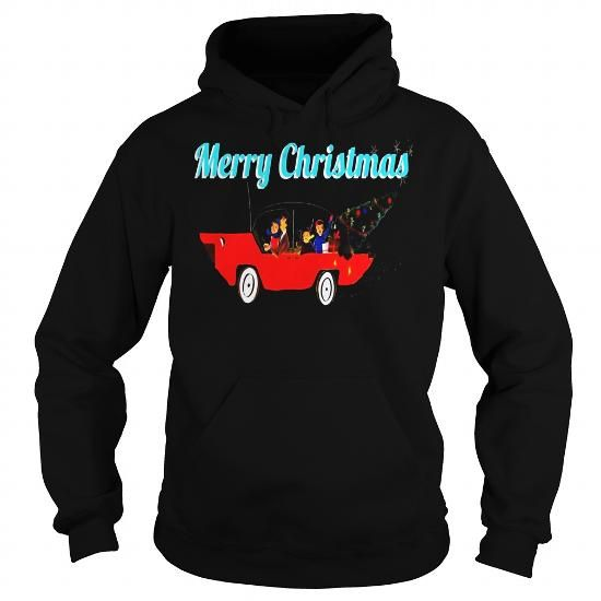 Mens Mid Century Modern MCM Family in Car Christmas Tree Retro LIMITED TIME ONLY. ORDER NOW if you like, Item Not Sold Anywhere Else. Amazing for you or gift for your family members and your friends. Thank you! #modern #pentathlon #shirts