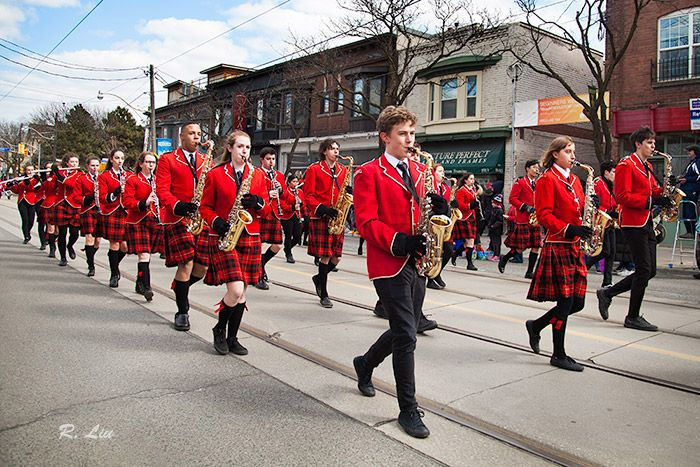 Beaches Easter Parade 2018, school band. Photo taken and made by Audrey Liu.