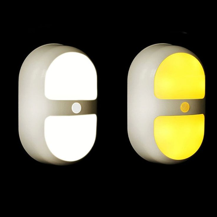 Yellow/White Battery Powered Led Lights With Motion Sensor Led Toilet Light Night Light for children Baby Wall Path/Hallway