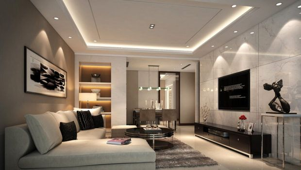 Modern Minimalist Suspended Ceiling Without Chandelier House