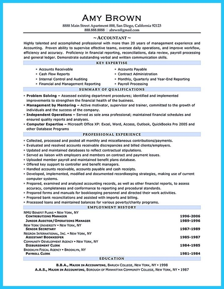 awesome Sample for Writing an Accounting Resume, resume template - accounting skills resume