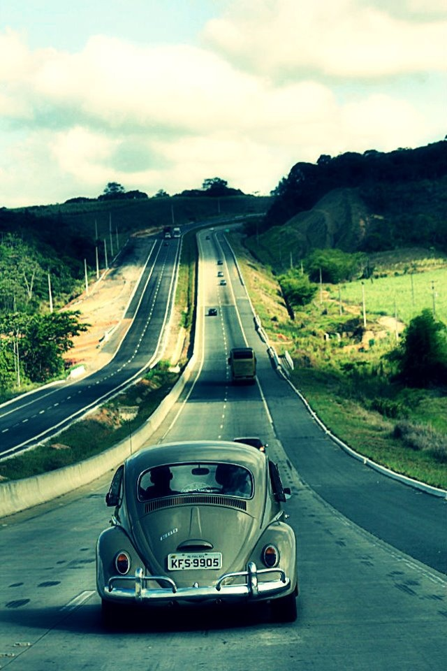 Fusca na BR-101 | Old Beetle on Highway BR-101 :) ON THE ROAD!