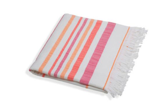Turkish Terry Towel Pink / Orange