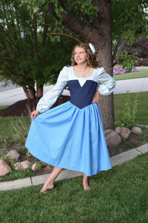 Ariel blue dress plus size