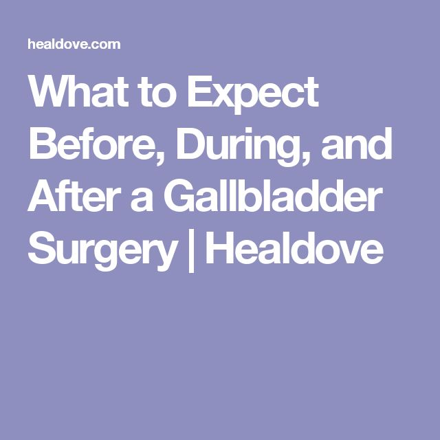 What to Expect Before, During, and After a Gallbladder Surgery | Healdove