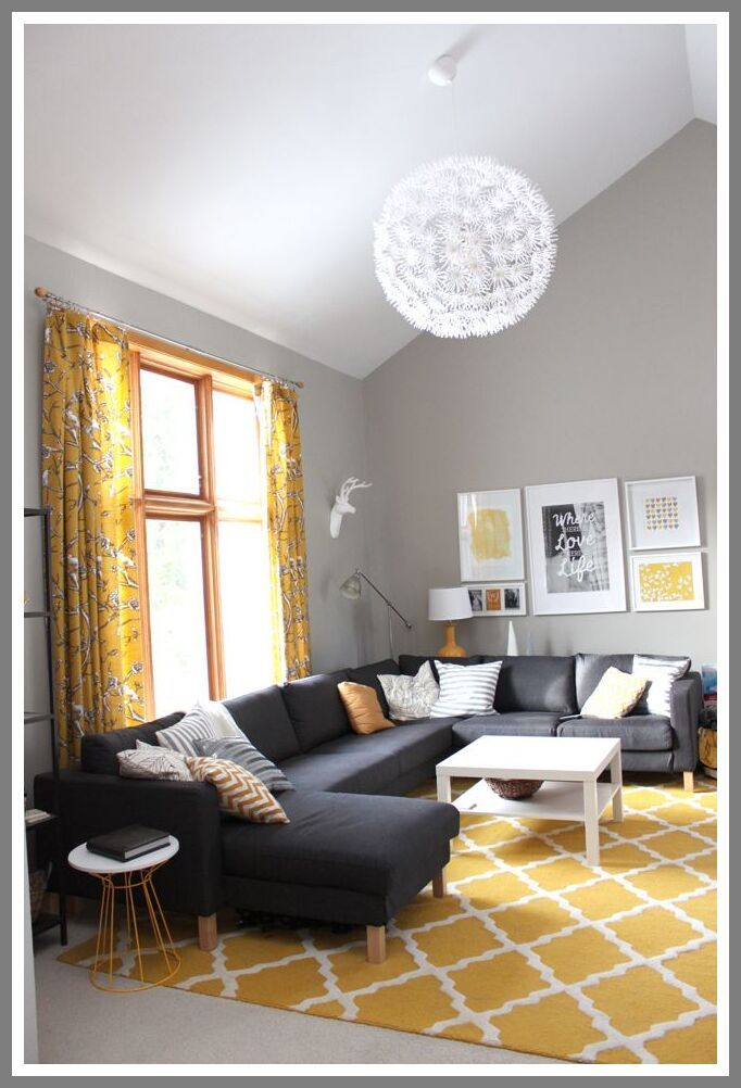 35 Reference Of Grey Sofa Yellow Curtains In 2020 Living Room Grey Living Room Yellow Accents Grey And Yellow Living Room #yellow #and #gray #living #room #curtains