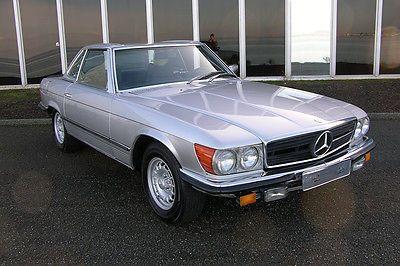 1979 Mercedes 350SL - Euro Model - 4 spd manual - Silv/Blue - Long time CA Car!