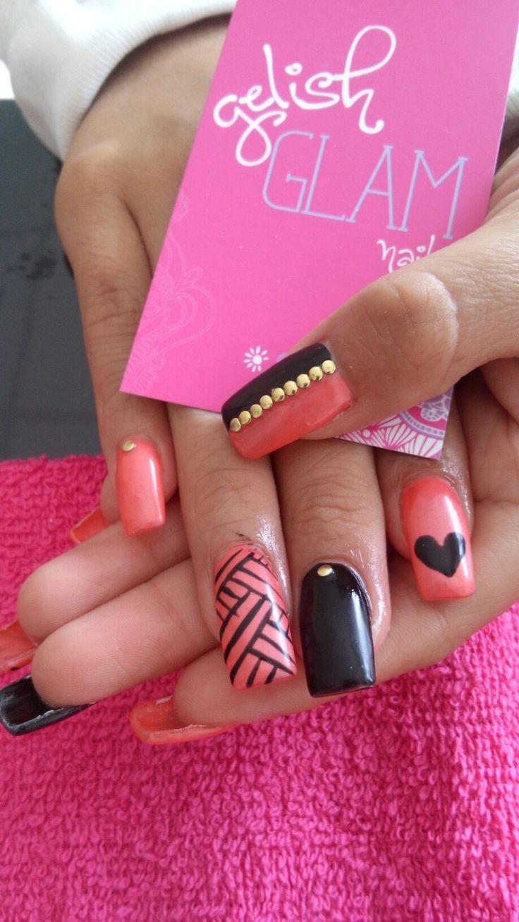 52 best uñas Gelish Glam images on Pinterest   Art ideas, Nail art ...