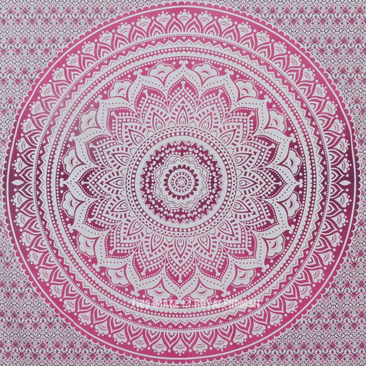 $20 Shop pink ombre mandala tapestry wall hanging, Indian bedding bedspread at best price. Shipping worldwide USA, UK, Canada, Australia and more.