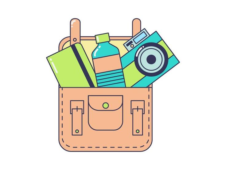 Things in bag by Maria Kislitsina