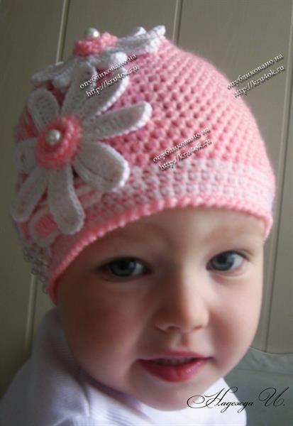 Детская шапка вязанная крючком