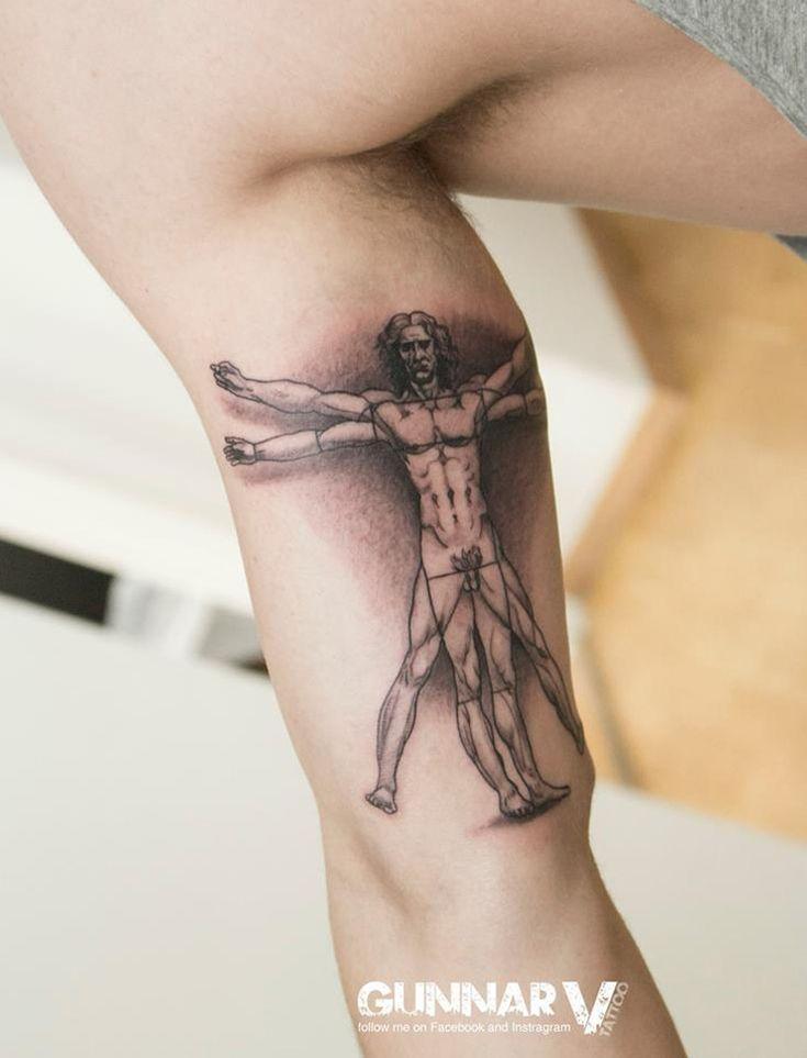 Leonardo Da Vinci's Vitruvian Man Tattoo | Best tattoo ideas & designs