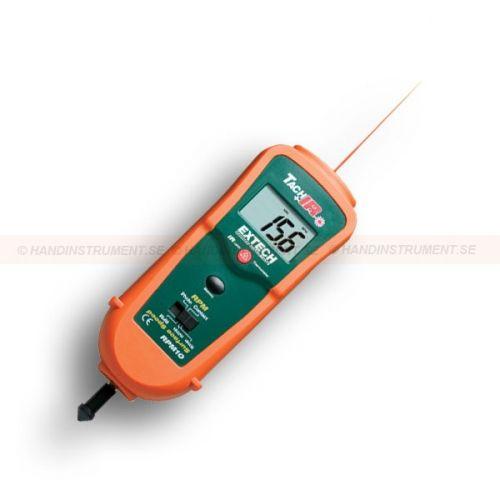 http://handinstrument.se/tachometer-stroboskop-r1243/varvraknare-varvtalsmatare-och-ir-termometer-53-RPM10-r1266  Varvräknare / varvtalsmätare och IR-termometer  Inbyggd IR-termometer med laser mäter på avstånd yttemperatur på motorer och roterande delar  brett mätområde både med kontaktlös varvtalsmätning eller med kontakt.  Beröringsfri  varvräknare som använder laser för större mäta avstånd på upp till 2m  Tecken på displayen ändrar riktning beroende på läge  Dubbel gjutna..