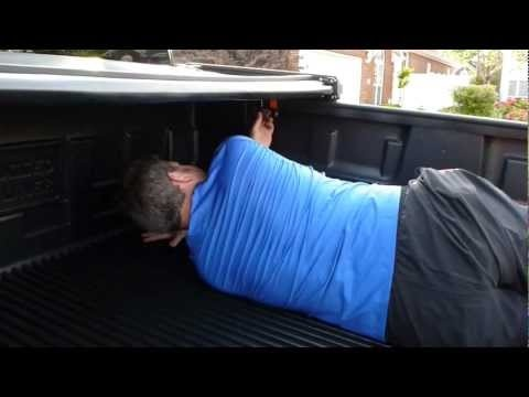 Installing a tonneau cover on a truck is easy.  Within this video I am installing my premium folding vinyl tonneau cover manufactured by Rugged Liner.  It was a snap to install and is simple to take on and off when I'm hauling large loads.  Otherwise, I just fold up the tonneau cover and there is still plenty of room in the bed to haul stuff.  This is the best tonneau cover that I have every owned!