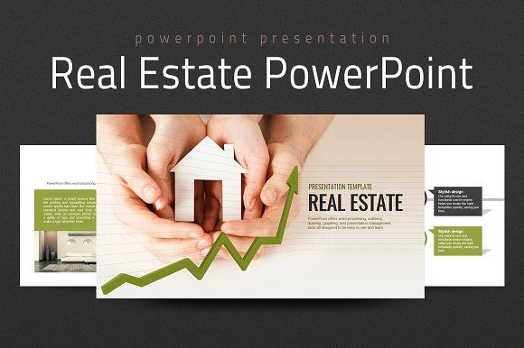 Real Estate PowerPoint Template @graphicsmag