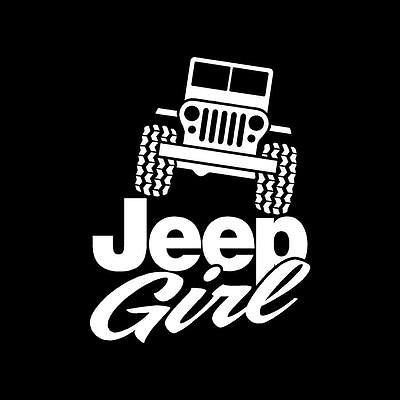 Girls that LOVE Jeep decals for Wrangler, CJ, YJ, TJ Vinyl Sticker Decal A123