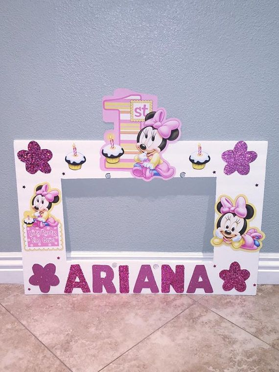Minnie mouse photo frame Pink minnie mouse by natashathecreator