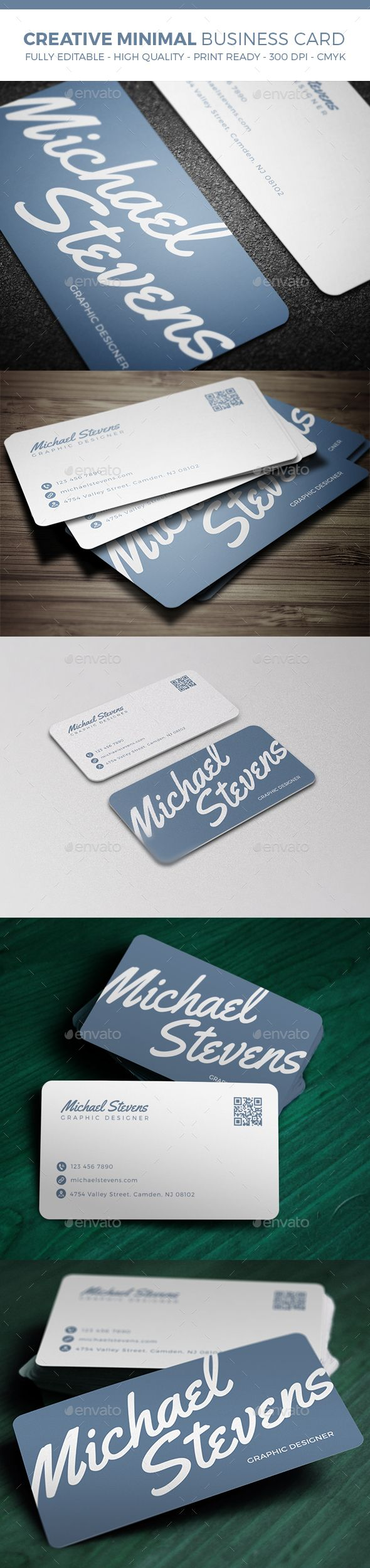 Creative Minimal Business Card — Photoshop PSD #clean #high quality • Available here → https://graphicriver.net/item/creative-minimal-business-card/16768305?ref=pxcr