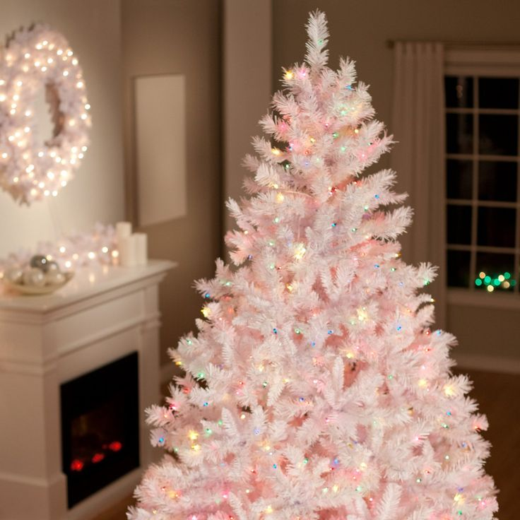 create a winter wonderland in your home with a white christmas tree - Light Pink Christmas Tree