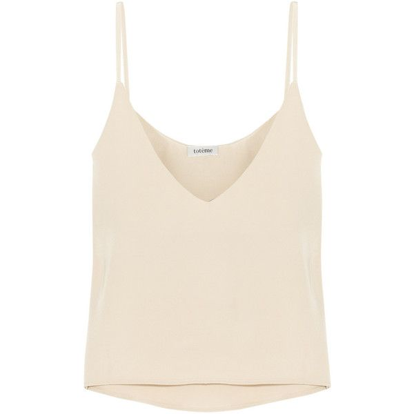 Toteme Rocha silk camisole found on Polyvore