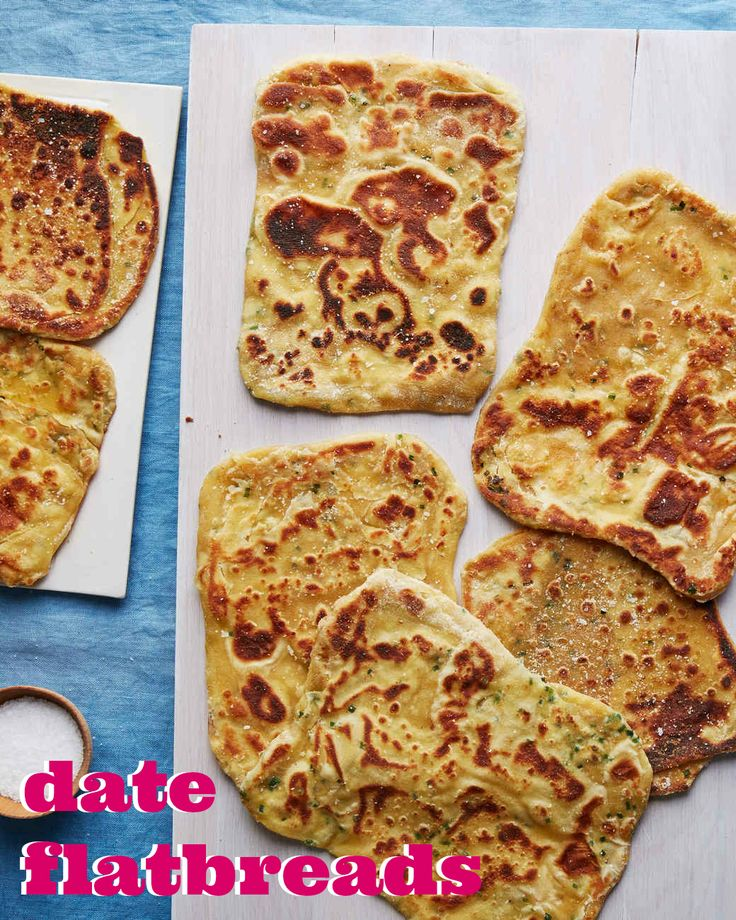 This Crispy Crackly Flatbread Is Studded With Dates Saffron And Chives The Recipe