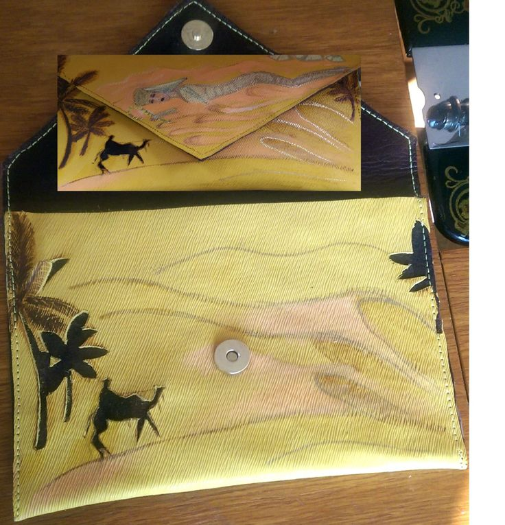 Personalised Envelope Leather Clutch / Purse / Handbag, Handmade, Women, Gift by DSTcraft on Etsy