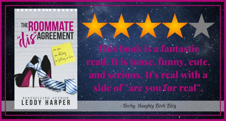 """Release Blitz With Review: The Roommate """"dis""""Agreement by Leddy Harper – Naughty Book Blog"""